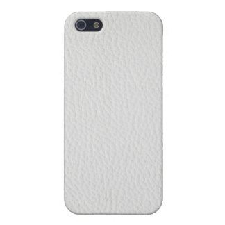 White leather iPhone 5/5S case