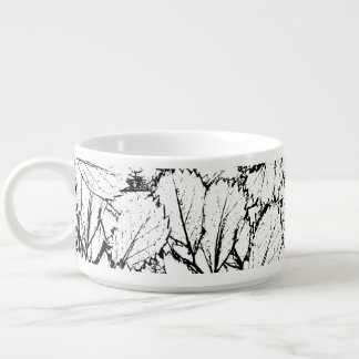 White Leaves Bowl