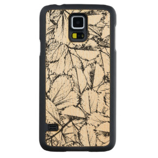 White Leaves Carved Maple Galaxy S5 Case