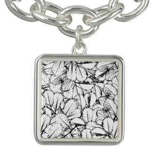 White Leaves Charm Bracelet