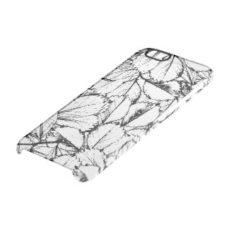 White Leaves Clear iPhone 6/6S Case