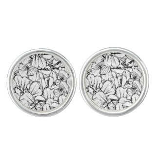 White Leaves Cufflinks