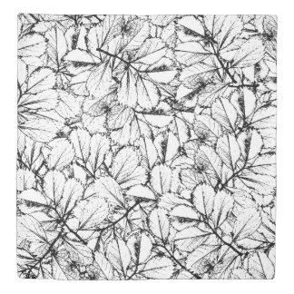 White Leaves Duvet Cover