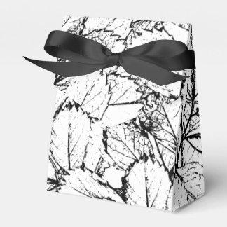 White Leaves Favor Box