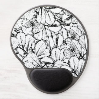 White Leaves Gel Mouse Pad