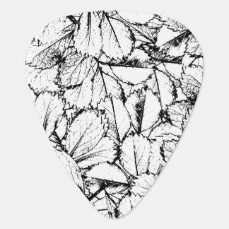 White Leaves Guitar Pick