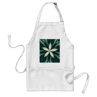 White Leaves In A Green Forest Kaleidoscope Standard Apron