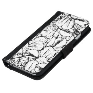 White Leaves iPhone 6 Wallet Case