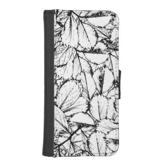 White Leaves iPhone SE/5/5s Wallet Case