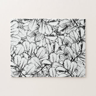 White Leaves Jigsaw Puzzle