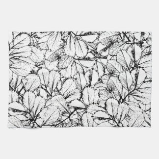White Leaves Kitchen Towel