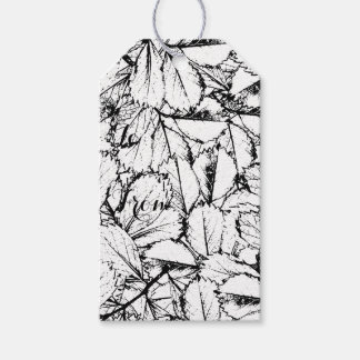 White Leaves Pack Of Gift Tags