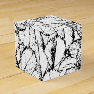 White Leaves Party Favor Box