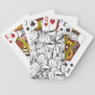 White Leaves Playing Cards