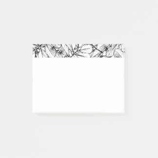 White Leaves Post-it Notes