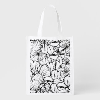 White Leaves Reusable Grocery Bags