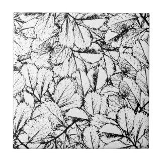 White Leaves Tile