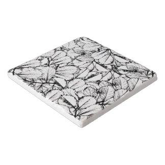 White Leaves Trivet