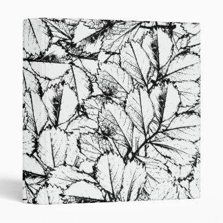 White Leaves Vinyl Binders