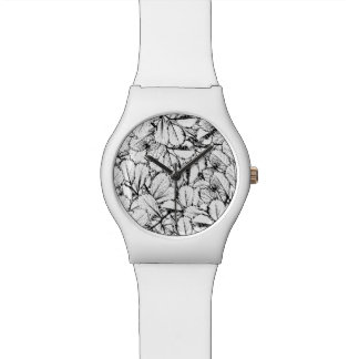 White Leaves Wrist Watch