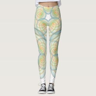 White Leggings Cool Celtic Pattern