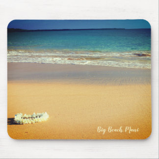 White Lei on the Beach Mouse Pad