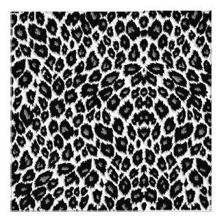 White Leopard Design Photo Print