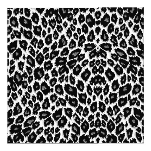 White Leopard Design Photo Print