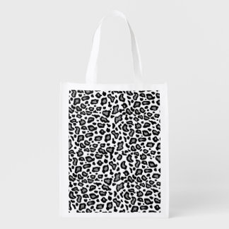 White Leopard Reusable Grocery Bag