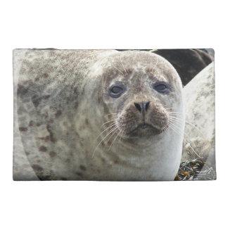 White Leopard Seal Accessories Bag