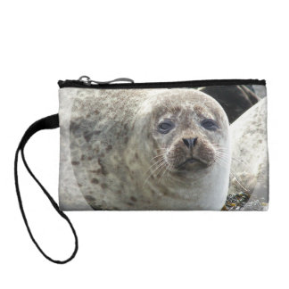 White Leopard Seal Coin Purse