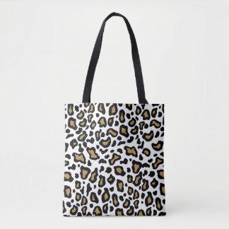 White Leopard Teacher's Tote Book Bag Gift