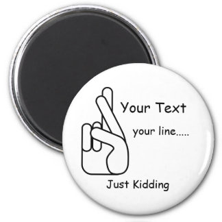 White Lies Crossed Fingers Magnet