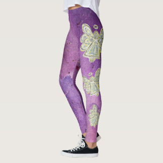 White Light Guardian Angel Spirit Art Leggings