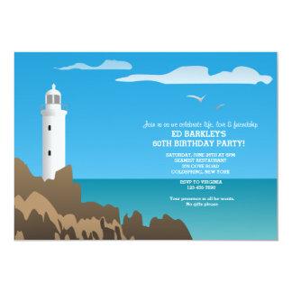 White Lighthouse Invitation
