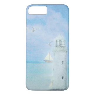 white lighthouse with sailboat iPhone 7 plus case