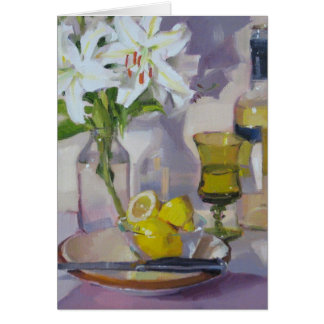White Lilies and Wine Card