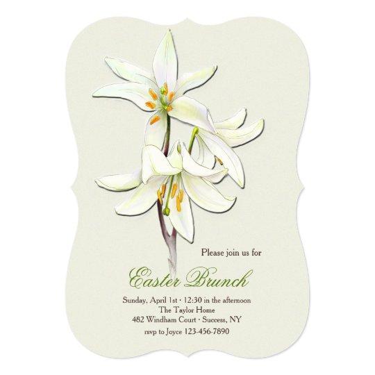 White Lilies Invitation