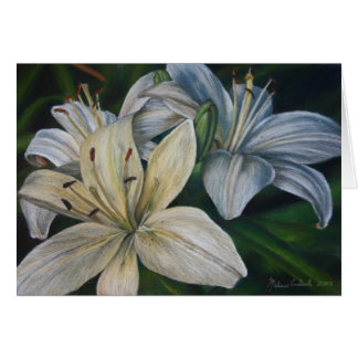 White Lilies, Late Afternoon Sun Card