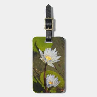 White Lilies Luggage Tag