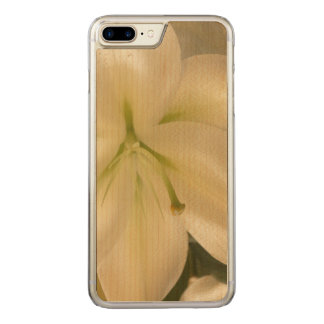 White Lillum Flower Photo  Wood Case