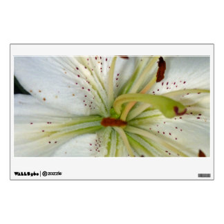 White Lily Close Up Wall Decal