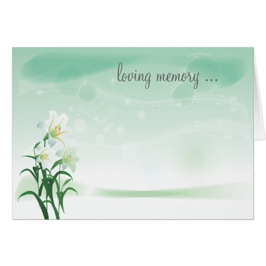 White Lily Floral Notecard