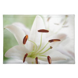 White Lily Flower Fully Open Placemat