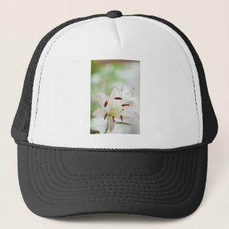 White Lily Flower Fully Open Trucker Hat