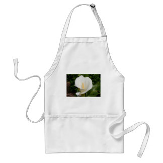 White Lily flower in bloom Adult Apron