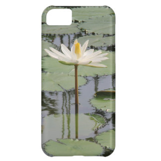White Lily Lotus iPhone 5C Covers