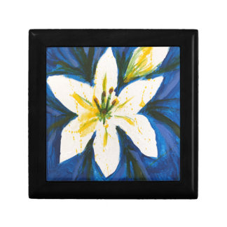 White Lily on Blue Collection by Jane Jewelry Boxes