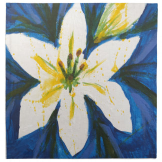 White Lily on Blue Collection by Jane Napkin