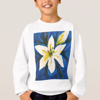 White Lily on Blue Collection by Jane Sweatshirt